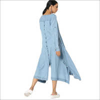 Ladies Casual Denim Kurta