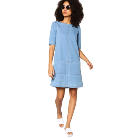 Ladies Denim Shift Dress