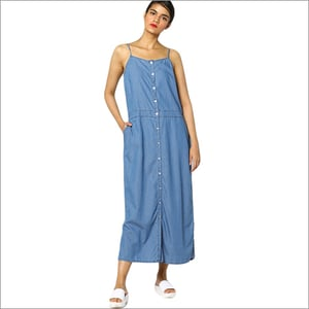 Ladies Denim Strappy Dress
