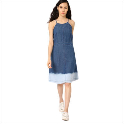 Ladies Fit Flare Denim Dress