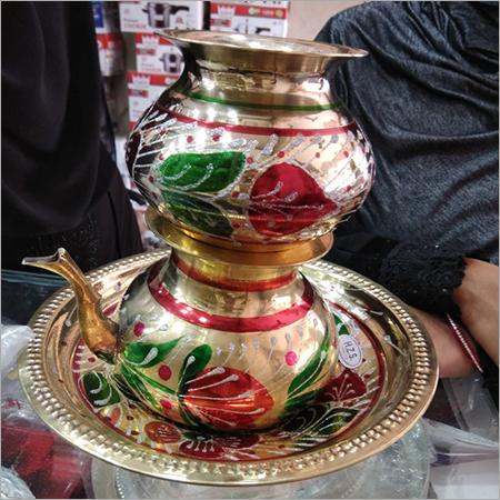 Brass Badana Set with thali