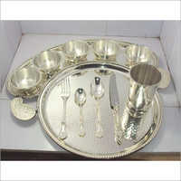 Brass Silver Maharaja Thali