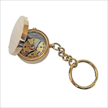 Brass Compass with Key Chain