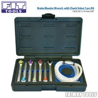 7,8,9,10,11,12 mm,3-8 Brake Bleeder Wrench with Check Valve 7 pcs Kit