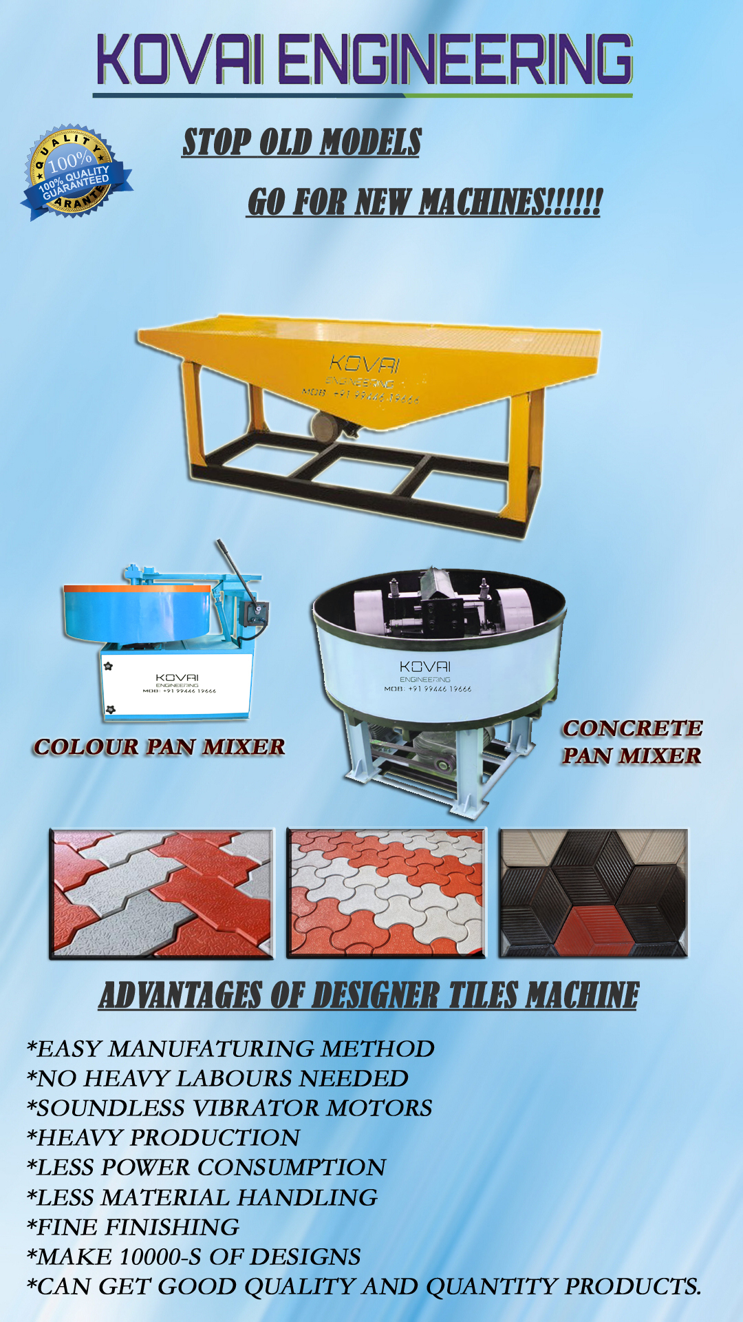 Heavy Duty Colour Mixer Machine