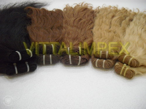 Remy machine weft colored hair