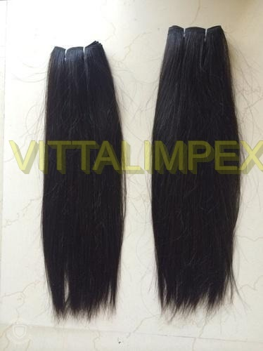Double weft straight hairs