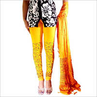 Ladies Block Printed Leggings With Dupatta