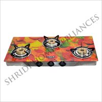 Three Burner Printed Gas Stove