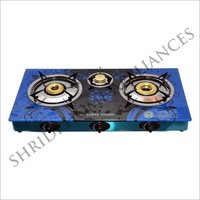 Three Burner Auto Ignition Gas Stove