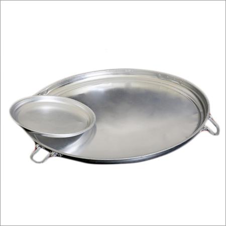 Aluminium Khomcha - Round Tray