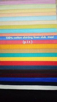 Shirting Linen Slub Maxi Fabric (P.L.T) 58