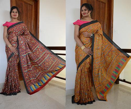 Designer Manipuri / Linen Chanderi Silk Saree