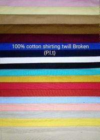 Shirting Twill Broken Fabric  (P.L.T) 58