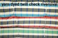 Shirting  Yarn Dyed Twill Check Reversible  Fabric 58