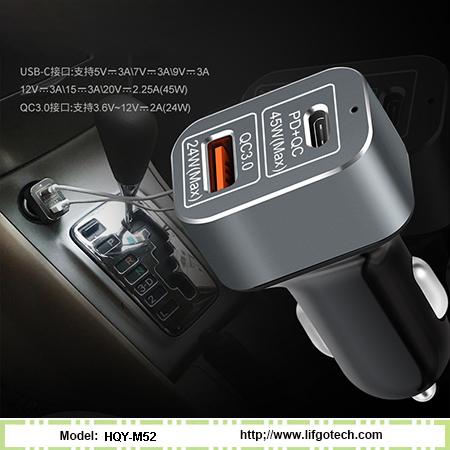 Dual USB Port Quick Car Charger