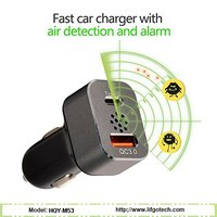Dual USB Fast Car Charger Adapter with air detection