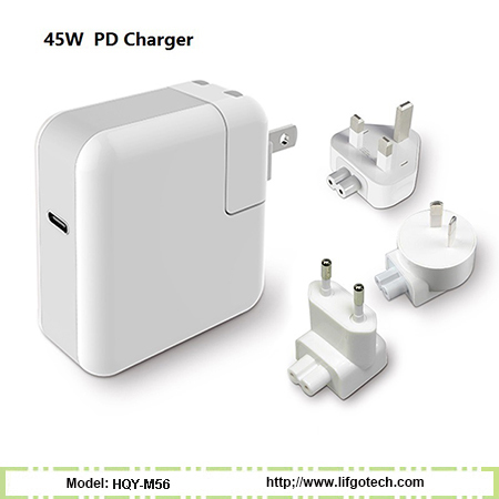 45W Type-C QC3.0 Power Delivery Wall Charger & Adapter