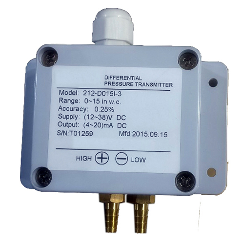 Low range Differential Pressure Transmitter with Brass connectors