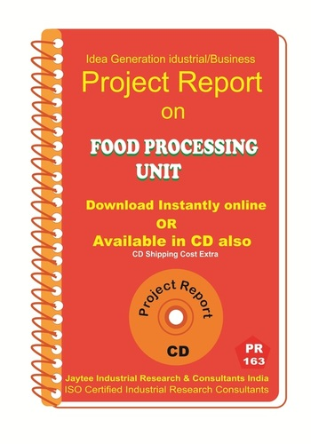 Food Processing Unit manufacturing project Report eBook