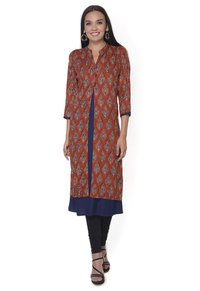 Red Double Layer  Rayon Kurti