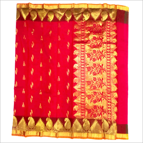 Ladies Cora Cotton Temple Mango Fancy Sarees