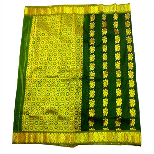 Ladies Empose Putta Stone with Neck Design Saree