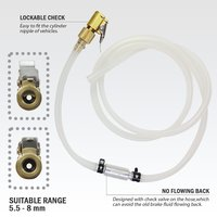 FIT TOOLS Made in Taiwan Lockable Brake Fluid Bleeder Hose with Check Valve Set