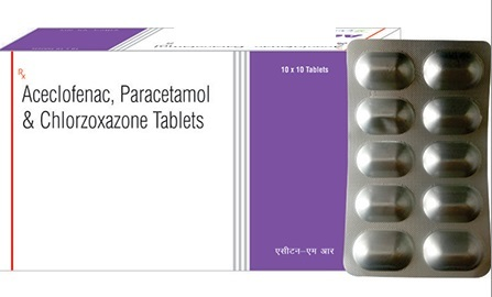 Aceclofenac, Chlorzoxazone and Paracetamol Tablet