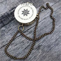 Go Confidently Brass Compass With Chain