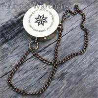 Antique Brass Pocket Handmade Compass