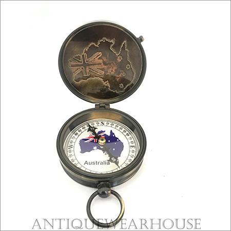 Prismatic Brass Compass