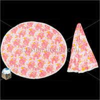 Cotton Pink Printed Beach Mandala