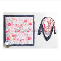 High Quality Women's Flower Print Square Scarf