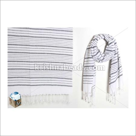 High Quality Women's Viscose Printed Striped Fancy Shawl