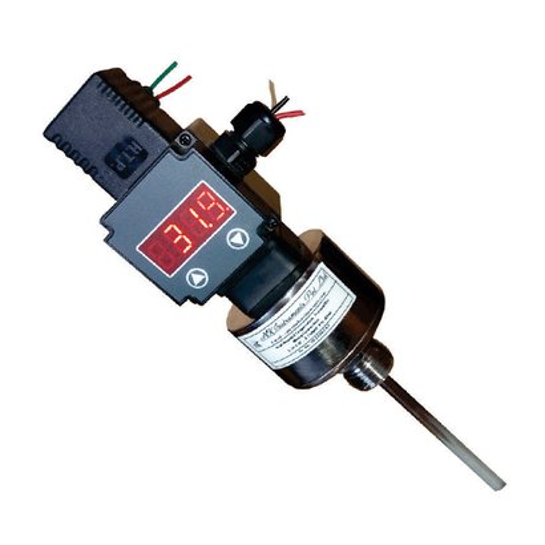 Temperature Sensor with Integral Temperature Indicating Transmitter