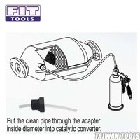 FIT TOOLS Universal Three Way Catalytic Converter Carbon Washing Kit