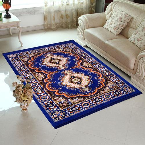 Home Elite Jute Carpet 5x7 feet,Blue