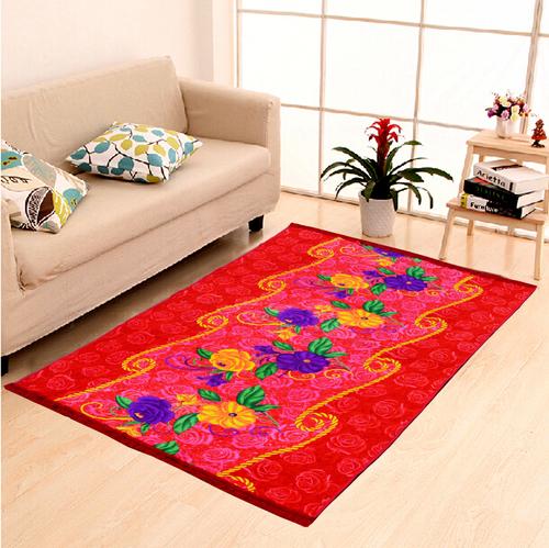 Home Elite Jute Carpet 5x7 feet,Red