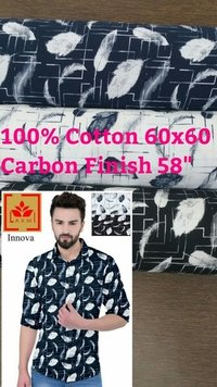 Shirting Fabric in Carbon Finish 58
