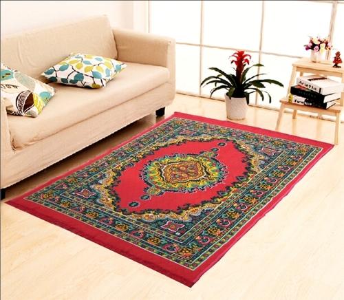 Home Elite Fiber Carpet 5x7 feet,Red