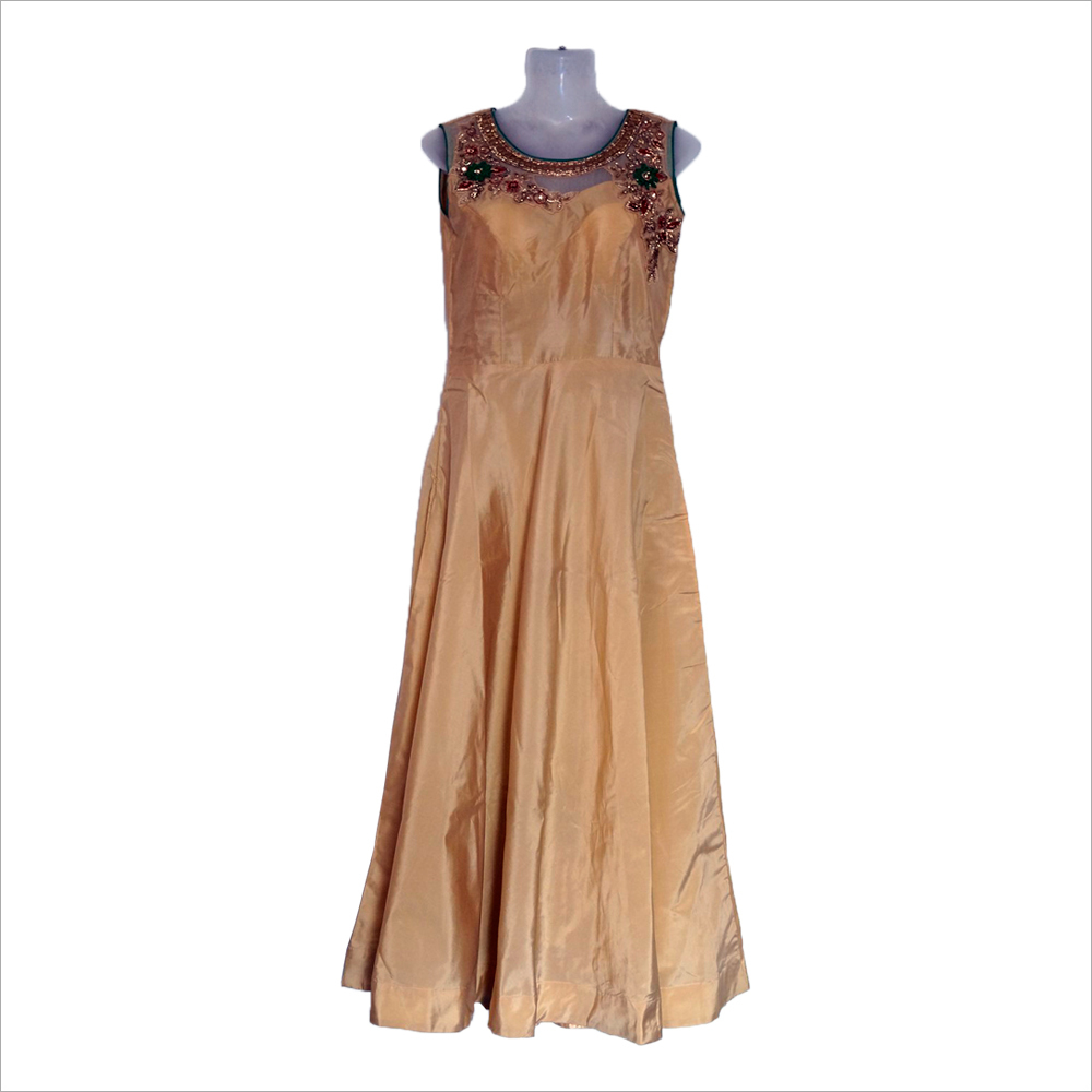 Ladies Sleeveless Long Dress