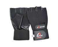 APRODO CARDIO FITNESS GYM GLOVES LEATHER PALM
