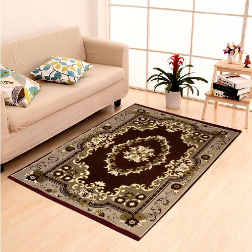 Home Elite Chenille Carpet 5x7,Brown