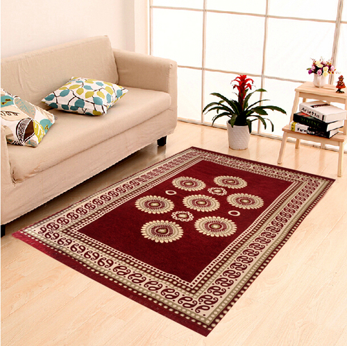 Home Elite Chenille Carpet,5x7 Feet,Mahroon