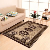 Home Elite Chenille Carpet,5x7 Feet,Brown