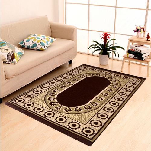 Home Elite Chenille Carpet,5x7 Feet,Black