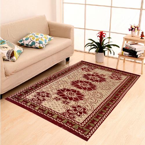 Home Elite Chenille Carpet,5x7 Feet,Mahroon