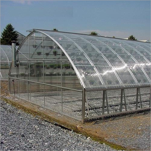 Polycarbonate Glass Greenhouse Structure