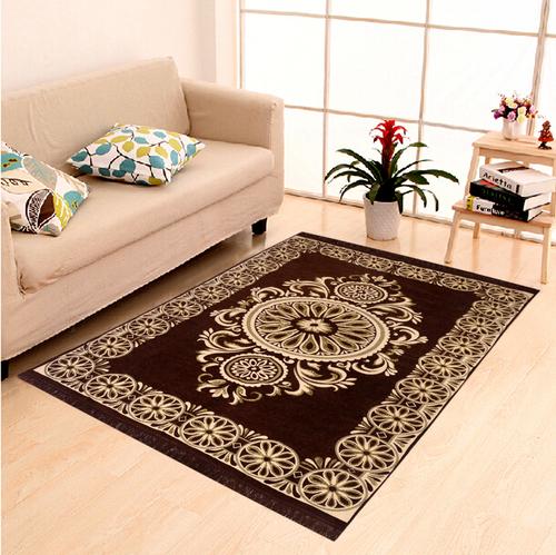 Home Elite Chenille Carpet,5x7 Feet,Brown
